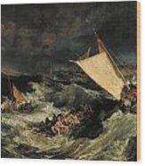 The Shipwreck Wood Print
