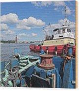 The Shipyard Wood Print