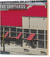 The Shipyards In Vancouver Wood Print