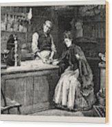 The Shopkeeper, Percy Macquoid, 1852-1925 Wood Print