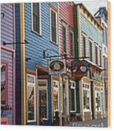 The Shops In Crested Butte Wood Print