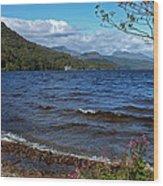 The Shore Of Loch Lomond  Wood Print