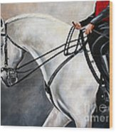 The Show Horse Stride Wood Print