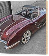 The Show Winner 1958 Corvette Wood Print