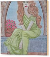 The Sibyl - Grecian Goddess Wood Print