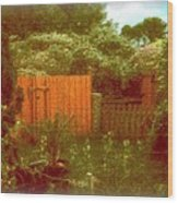 The Side Yard Wood Print