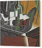 The Sideboard, 1917 Oil On Plywood Wood Print