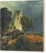 The Siege. Defense Of A Church Courtyard During The Thirty Years' War Wood Print