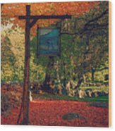 The Sign Of Fall Colors Wood Print