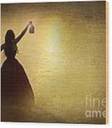 The Lady With The Lamp Wood Print
