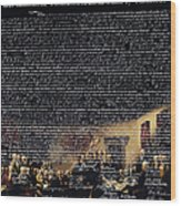 The Signing Of The United States Declaration Of Independence V2 Wood Print