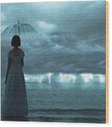 The Silent Sea Wood Print