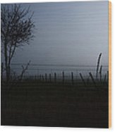 The Silhouette Of Morning Wood Print
