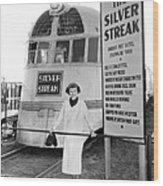 The Silver Streak Train Wood Print