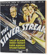 The Silver Streak, Us Poster Art Wood Print