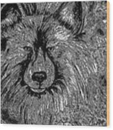 The Silver Wolf Wood Print