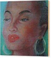 The Singer Sade Wood Print