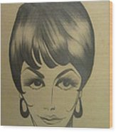 The Sixties And Fashion Hair Wood Print