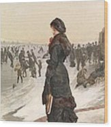 The Skater Wood Print by Edward John Gregory