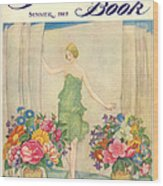 The Sketch Book 1925 1920s Uk Womens Wood Print by The Advertising Archives
