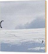 The Skier Wood Print