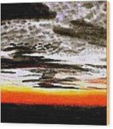 The Skies Wood Print