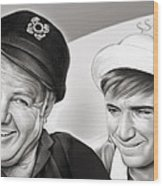 The Skipper And Gilligan Wood Print