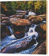 The Skull Waterfall Wood Print