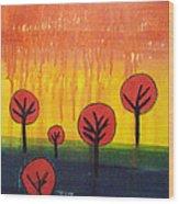 The Sky Is Falling Wood Print