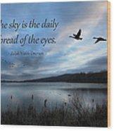 The Sky Wood Print by Lori Deiter