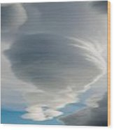The Sky Over Puerto Natales In Patagonia Chile Wood Print