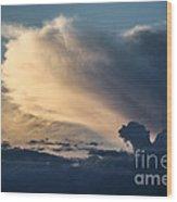 The Sky Serpent Wood Print