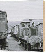 The Steam Train Wood Print