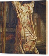 The Slaughtered Ox Wood Print by Rembrandt Harmenszoon van Rijn