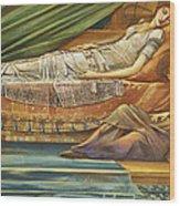 The Sleeping Princess Wood Print by Sir Edward Burne-Jones
