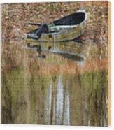The Small Boat Photoart II Wood Print