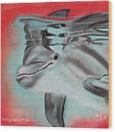 The Smiling Dolphins Of Taiji Wood Print