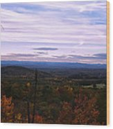 The Smokey Mountains From Hanging Rock State Park Wood Print