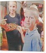 'the Snake 2' Wood Print