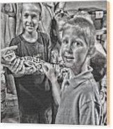 'the Snake' Wood Print