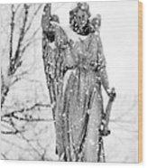The Snow Angel Wood Print