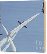 The Snowbirds At High Speed Wood Print