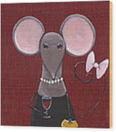 The Socialite  Wood Print by Christy Beckwith