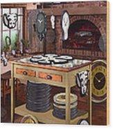 The Soft Clock Shop 2 Wood Print