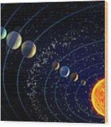 The Solar System Wood Print