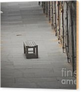 The Solitary Seat Wood Print