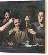 The Sopranos Wood Print by Viola El