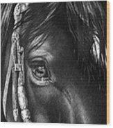 the Soul of a Horse Wood Print