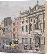 The South Front Of Ironmongers Hall, From R. Ackermanns Repository Of Arts 1811 Colour Litho Wood Print