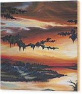 The Southern Marsh Wood Print